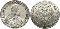 World Coins - Austria. Charles VI. 1715. 6 Kreuzer. Tyrol. Gem Unc. with excellent mint luster.