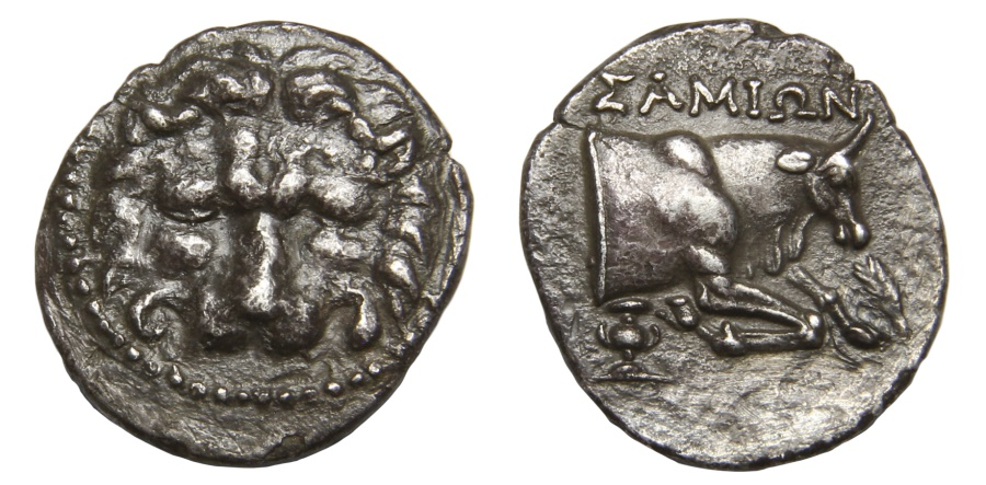 Ancient Coins - Ionia, Samos Ar. drachm