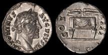 Ancient Coins - Antoninus Pius Ar. denarius (139 - 161 AD)