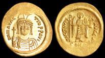 Ancient Coins - Maurice Tiberius Au. solidus