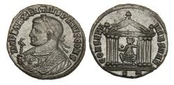 Ancient Coins - Maxentius Ae. follis – consular bust