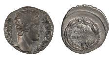 Ancient Coins - Augustus Ar. denarius (19 BC)