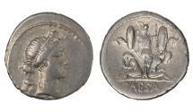 Ancient Coins - Julius Caesar Ar. denarius (46-45 BC)