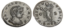 Ancient Coins - Galeria Valeria Ae. follis (wife of Galerius)