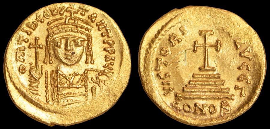 Ancient Coins - Tiberius II Constantine Au. solidus