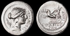 Ancient Coins - P. Plautius Hypsaeus Ar. denarius (58 BC)