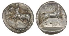 Ancient Coins - Thessaly, Larissa, Ar. drachm