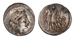 Ancient Coins - P. Licinius Crassus M.F. Ar denarius (55 BC)