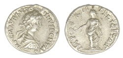 Ancient Coins - Caracalla Ar. denarius (AD 198)