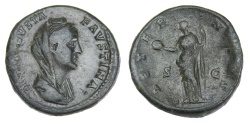 Ancient Coins - Faustina I Ae. sestertius