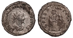Ancient Coins - Saloninus silvered antoninianus
