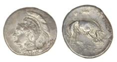 Ancient Coins - Velia, Lucania Ar. didrachm