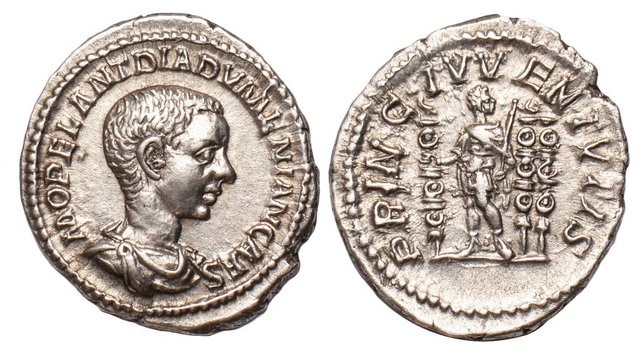 Ancient Coins - Diadumenian Ar. denarius