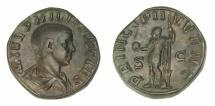 Ancient Coins - Philip II (as Caesar, AD 244-247) Ae. sestertius