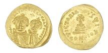 Ancient Coins - Heraclius and Heraclius Constantine Au. solidus (AD 613-641)