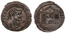 Maxentius Ae. follis (consular bust)