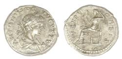 Ancient Coins - Caracalla Ar. denarius (AD 199-201)
