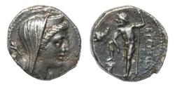 Ancient Coins - Bruttium, Brettii Ar. drachm