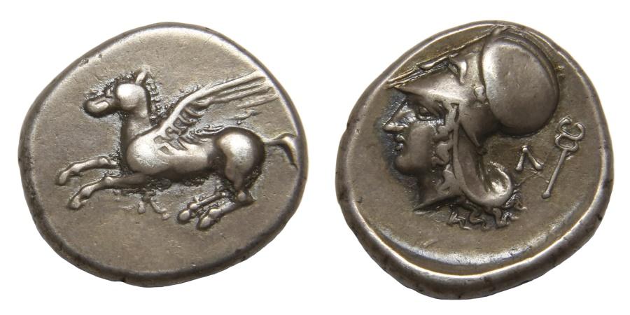 Ancient Coins - Akarnania, Leukas Ar. stater