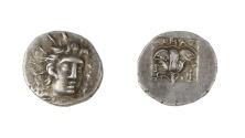 Ancient Coins - Caria, Rhodes Ar. hemidrachm