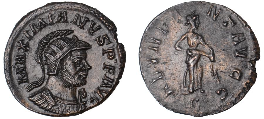 Ancient Coins - Maximianus Ae. antoninianus – rare variety