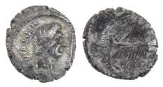 Ancient Coins - Pompey the Great AR Denarius, Sicily, BC 46-45