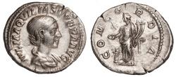 Ancient Coins - Aquilia Severa Ar. denarius (AD 220-222)
