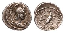 Ancient Coins - M. Plaetorius M.f. Cestianus Ar. denarius