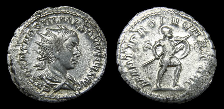 Ancient Coins - Hostilian Ar. antoninianus (AD 251)
