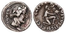 Augustus Ar. denarius (with the name of moneyer P. Petronius Turpilianus)