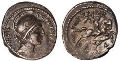Ancient Coins - P. Fonteius P. f. Capito Ar. denarius (55 BC)