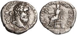 Ancient Coins - Pertinax Ar. denarius – rare (AD 193)