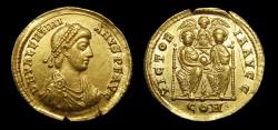 Ancient Coins - Valentinian II Au. solidus