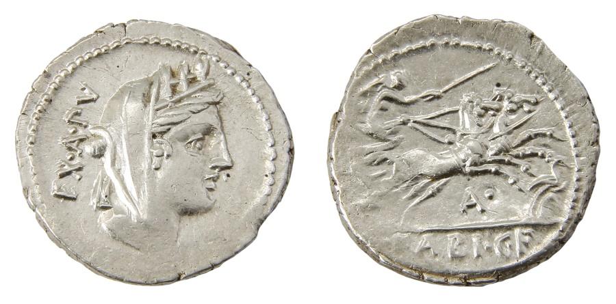 Ancient Coins - C. Fabius C. f. Hadrianus Ar. denarius