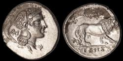 Ancient Coins - Lucania, Velia Ar. nomos (300 – 280 BC)