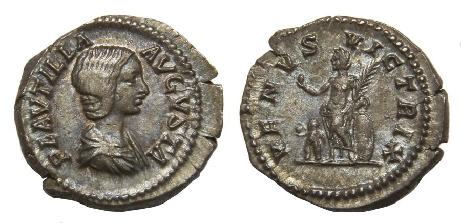 Ancient Coins - Plautilla Ar. denarius