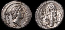 Ancient Coins - Q. Sicinius and C. Coponius Ar. denarius (49 BC)