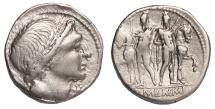 L. Memmius Ar. denarius (109 – 108 BC)