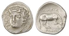 Ancient Coins - Thessally, Larissa Ar. drachm