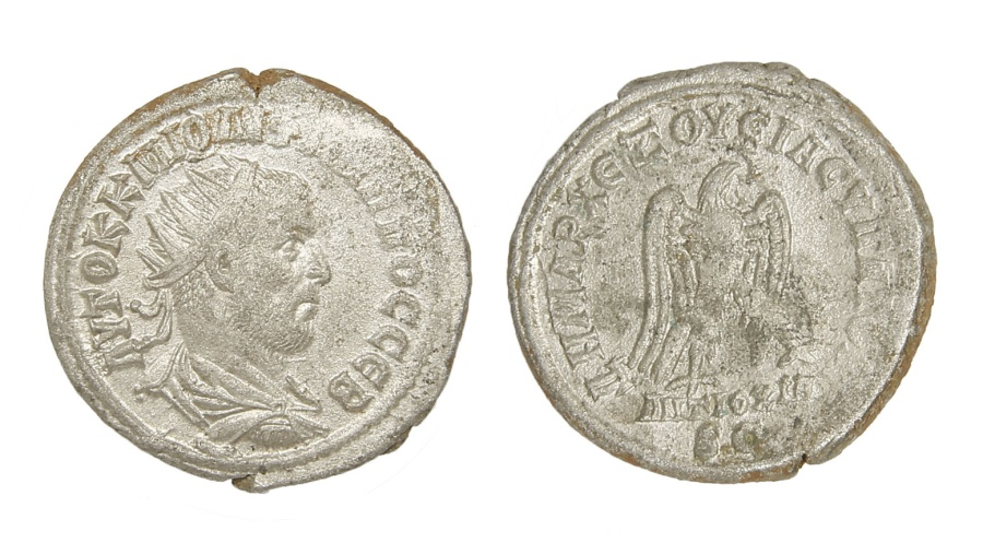 Ancient Coins - Philip I Ar. tetradrachm (AD 244-249)