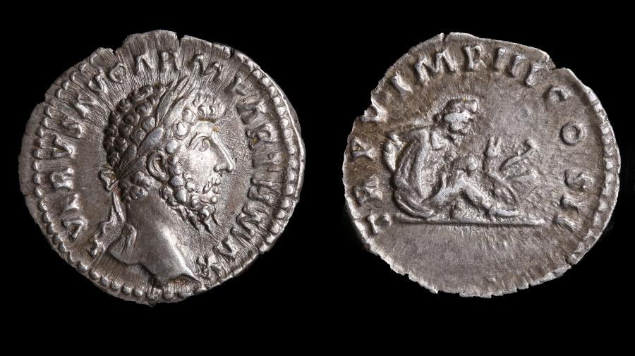 Ancient Coins - Lucius Verus Ar. denarius