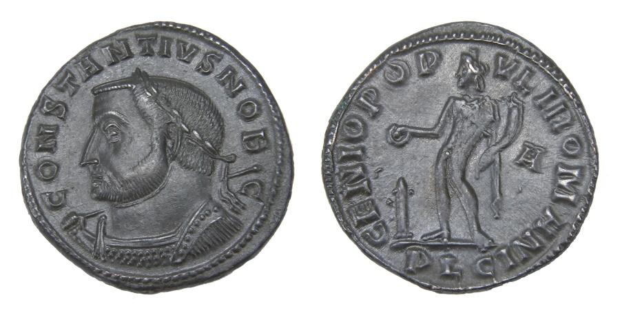 Ancient Coins - Constantius I Ae. follis (as Caesar)