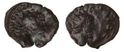 Ancient Coins - Tetricus I brockage Ae antoninianus