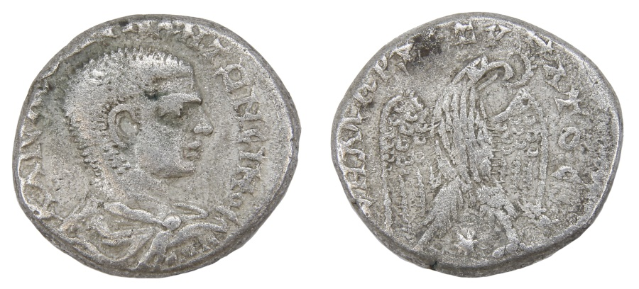 Ancient Coins - Diadumenian Ar. tetradrachm (AD 218)