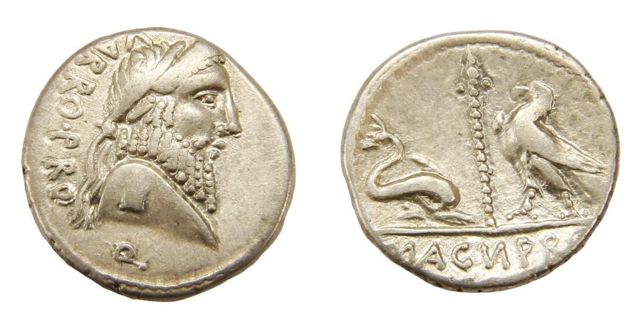 Ancient Coins - Pompey the Great Ar. denarius (49 BC)
