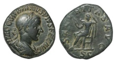 Ancient Coins - Gordian III Ae. Sestertius