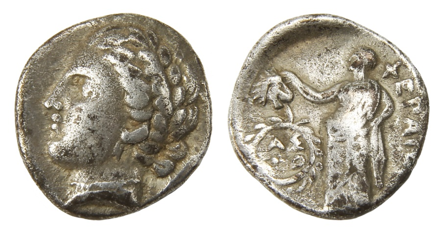 Ancient Coins - Pherai, Thessaly Ar. hemidrachm
