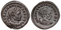 Constantine I Ae. follis (with Mars)