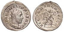 Philip I Ar. antoninianus – rare (AD 247)
