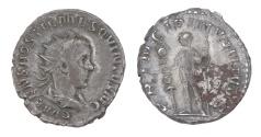 Ancient Coins - Hostilian Ar. antoninianus (AD 215)